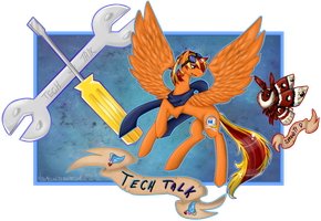 Flying High Character Card Techie by chris9801