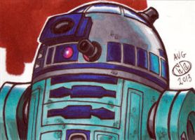R2-D2 Sketch Card 2013 by Chad73