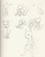 Mew and Two by HiddenWolfSoulKimi