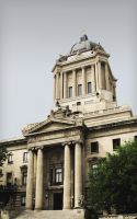 Manitoba Legislative Building Rear Entrance by Joe-Lynn-Design