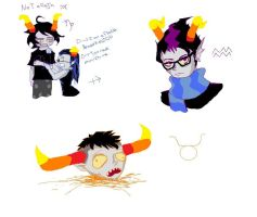 Homestuck doodles by DreamXxXDemon178