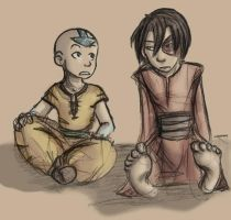 Zuko and Aang by cursedgnomes