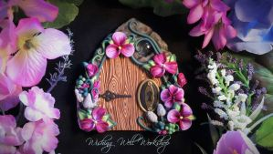 Polymer Clay Fairy Door in Pinks by missfinearts