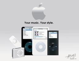iPod lineup by E-drian