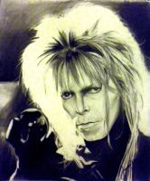 David Bowie as Jareth Charcoal by JamesMarsano