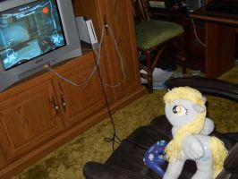 Derpy Hooves Gamer by EratosofCyrene