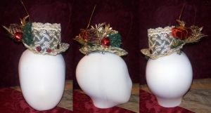 Gold Holiday Lolita Hat by LilithOya