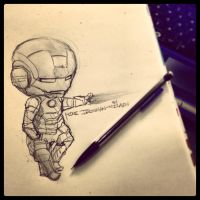 Mini Iron Man vs. Mechanical Pencil by MzzAzn