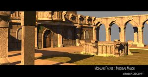 Medieval Manor ::3D:: by abhishek-arts