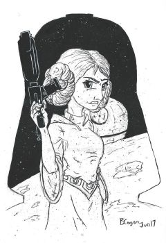 Leia Organa - A Galaxy of Hope by monkeypoke