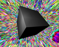 Floating black cube by CYCLEJUNKIE80