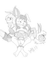 Little bunnies by Limpurtikles