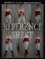 REFERENCE SHEET 2 of 4: Swordswoman by AngelaSasser-stock
