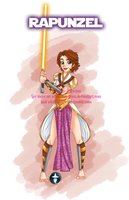 Disney Jedi Princess Brunette!Rapunzel by White-Magician