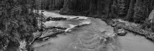 Down from Natural Bridge BW by skip2000