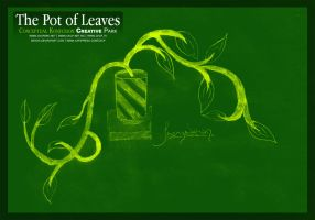Pot of leaves by dehog