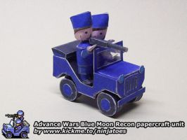 Blue Moon Recon papercraft by ninjatoespapercraft