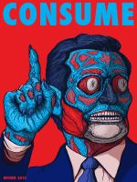 TED CRUZ _from the CONSUME series_THEY LIVE by HalHefnerART