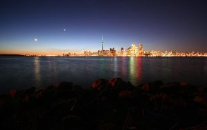 rocks, lake and toronto. by theycome