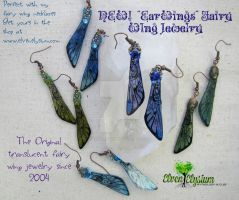 Fairy Wing Earrings, Aka EarWings by elvenelysium