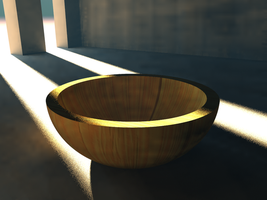 Wooden Bowl by pyrohmstr