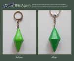 Sculpt This Again: Plumbob Keyring by Alistu