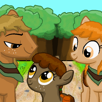 Tiny Timbers and her Parents by minergirl778