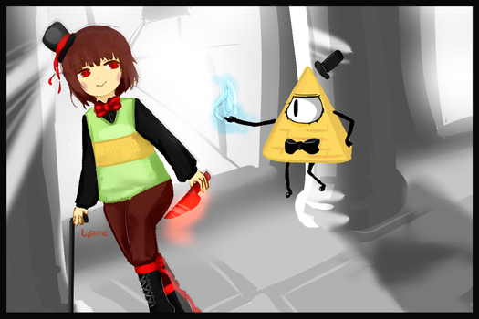 -CROSSOVER- Bill Cipher and Chara by Lysame