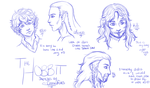 The Hobbit - Sketches by CrossedFates