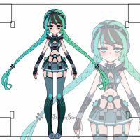 Techno girl  adoptable CLOSED by AS-Adoptables