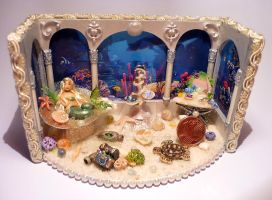 Mermaid room box 1/48 scale by Adoratia