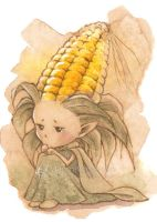 Corn Sprite - Sepia Version by aruarian-dancer