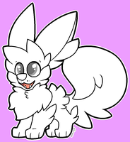 Pomsky Eevee Base (remade) by pupom