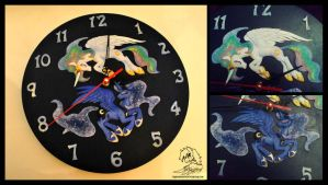 Celestia-Luna Clocks by DragonAtaxia