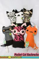 Pocket Cat Backpacks by lemonbrat