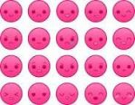 Pink emoticons! by CaraSiminova