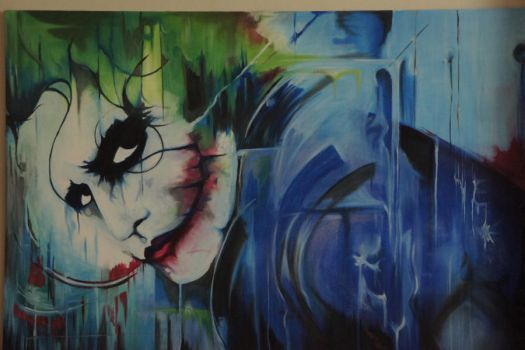 joker oil painting replica by togay-togay