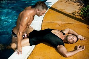 Aden and Jordan by Pool 2 by G2Squared
