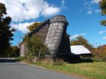 Leaning Silo in Vermont During the Fall 2 by TheGreatWiseAss