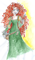 Merida sketch by TaijaVigilia