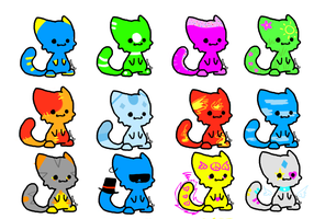 Cheap kitty adopts (Open) by sayaka127