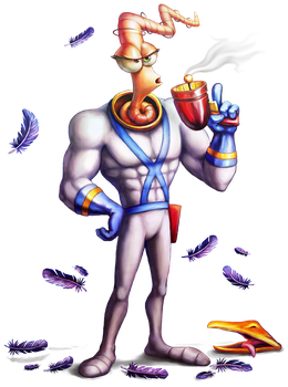 Earthworm Jim by Cortoony