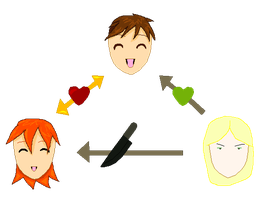Pepperony love triangle by Finny-KunGoddess