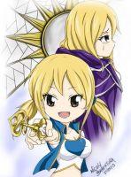 Lucy Chibi and Future Lucy by heartfilia95