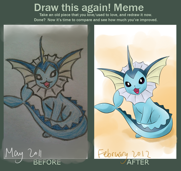 Before and after [Vaporeon edition] by Whimsical-Cotton