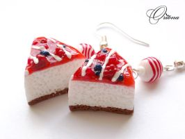 """Earrings """"Berry Cocktail"""" by OrionaJewelry"""