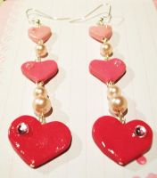 Valentine's Heart Earrings by pinkDudu