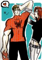 peter and mary jane by blightedmetal