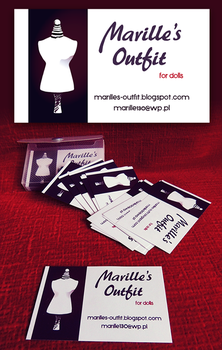Marille's Outfit business card and logo by Shinara