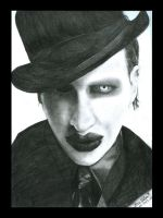 Portrait of Marilyn Manson by PyramidHeadxXx